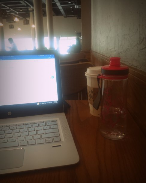 Afternoon off; writing, coffeeing.