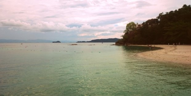 Unrelated Beach Scene, Kota Kinabalu, Malaysia